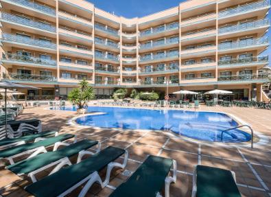 Exterior and pool Hotel California Palace Salou Costa Dorada