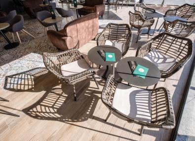 Cafétéria ensoleillée Appartements California Salou Tarragona